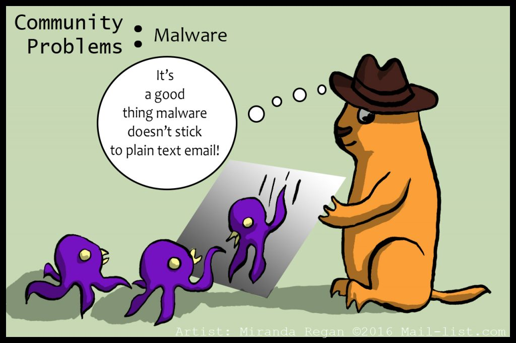 A Mailing List Malware Solution: Plain Text